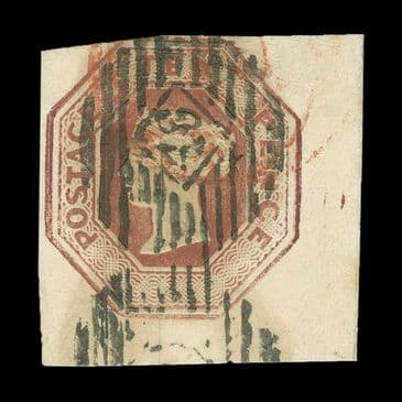 TUT1507 - GB QV Embossed 10d. Red-brown fine used. CLICK FOR FULL DESCRIPTION