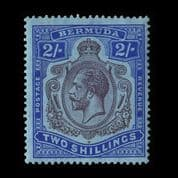 TUT2019 - Bermuda - KGV 2s. Variety 'nick in top scroll' superb mint. CLICK FOR FULL DESCRIPTION