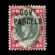 TUT2161 - GB Officials - GOVT. PARCELS Jubilee 1s. Green & carmine. CLICK FOR FULL DESCRIPTION