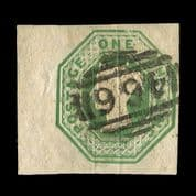 TUT2582 - GB QV - Embossed 1s. Green, extraordinary condition. CLICK FOR FULL DESCRIPTION