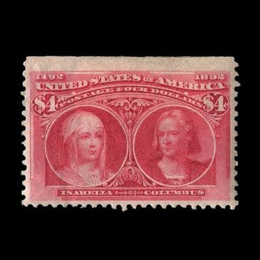 TUT2656 - USA - Columbian Exposition $4 Bright carmine, lovely colour. CLICK FOR FULL DESCRIPTION