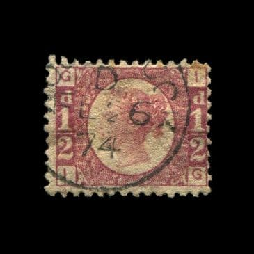TUT2767 - GB QV bantam ½d rose-red clearly defined plate 10 letters I-G. CLICK FOR FULL DESCRIPTION