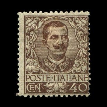 TUT2847 - Italy - King Victor Emmanuel III 1st 40c Brown good colour fine mint typical brownish o.g.