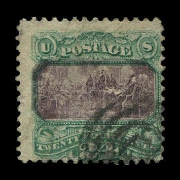 TUT2852 - USA - 'Declaration of Independence' 24c. Deep purple & green, sound used appearance