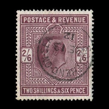 TUT2893 - GB - KEVII Somerset House ptg 2s.6d. Dark purple fabulous colour well-centred superb