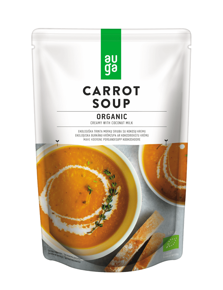 Auga Organic Creamy Carrot Soup with Coconut Milk