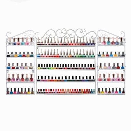 5 Tier Nail Polish Wall Rack Set