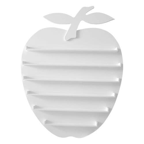 Apple Wall Rack Display  - White