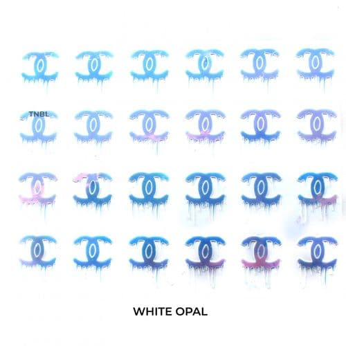 Chanel Drip Nail Art Sticker - Available in 8 colours