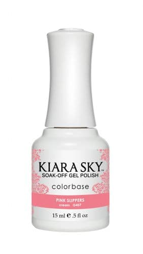 KIARA SKY GEL POLISH 15ML - G407 PINK SLIPPERS