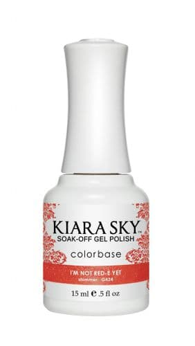 KIARA SKY GEL POLISH 15ML - G424 I'M NOT RED-E YET