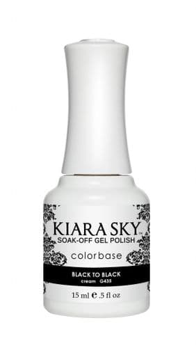 KIARA SKY GEL POLISH 15ML - G435 BLACK TO BLACK