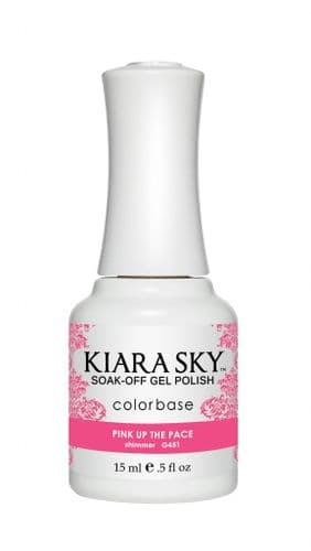 KIARA SKY GEL POLISH 15ML - G451 PINK UP THE PACE