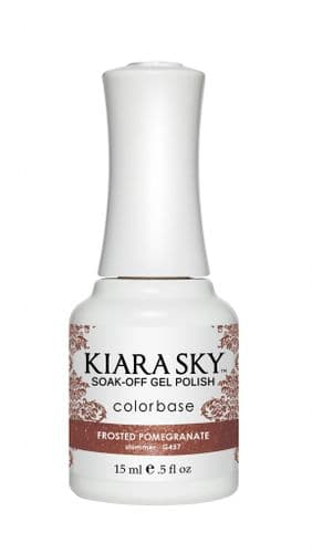 KIARA SKY GEL POLISH 15ML - G457 FROSTED POMEGRANATE