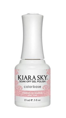 KIARA SKY GEL POLISH 15ML - G496 PINKING OF SPARKLE
