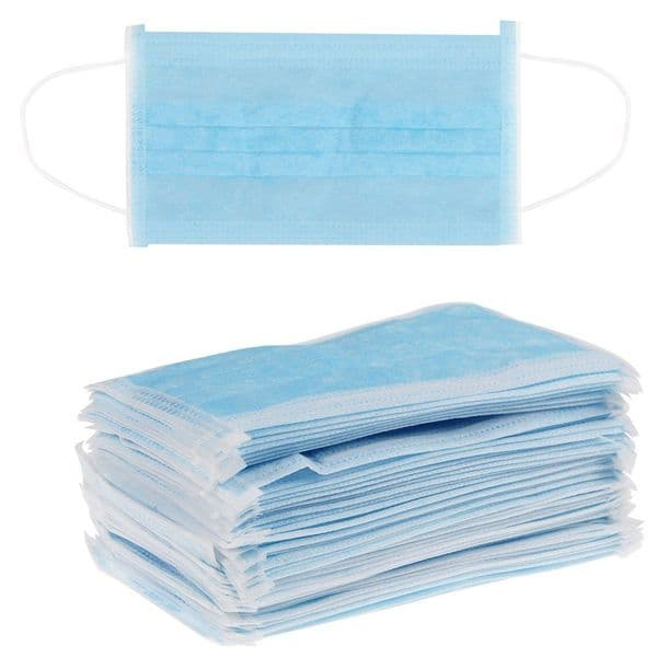 Loop Disposable Face Mask 3 ply - Box of 50 (Munskydd 3 Lagers Blå 50-pack)