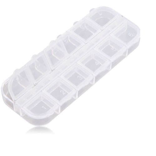 Nail Art Storage Box - 12 Slots