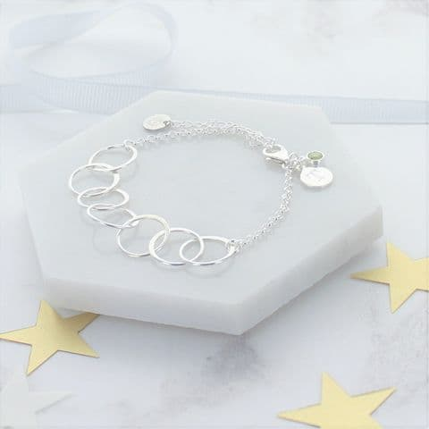 70th Birthday Personalised Infinity Link Bracelet