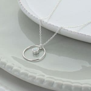 Circle Of Life October Opal Necklace
