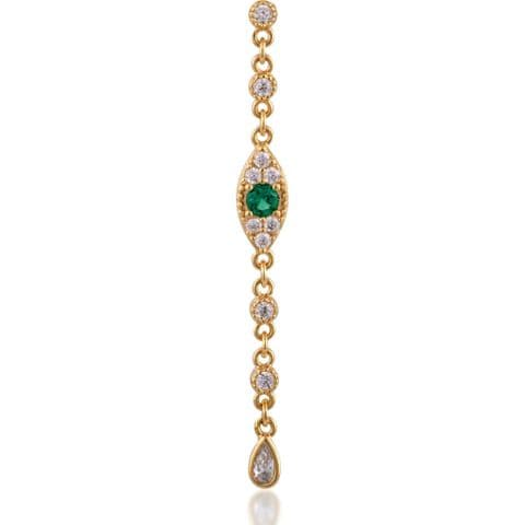 Evil eye gold plated dots earring