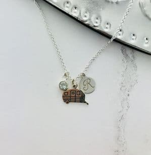 Glamping Personalised Birthstone Necklace