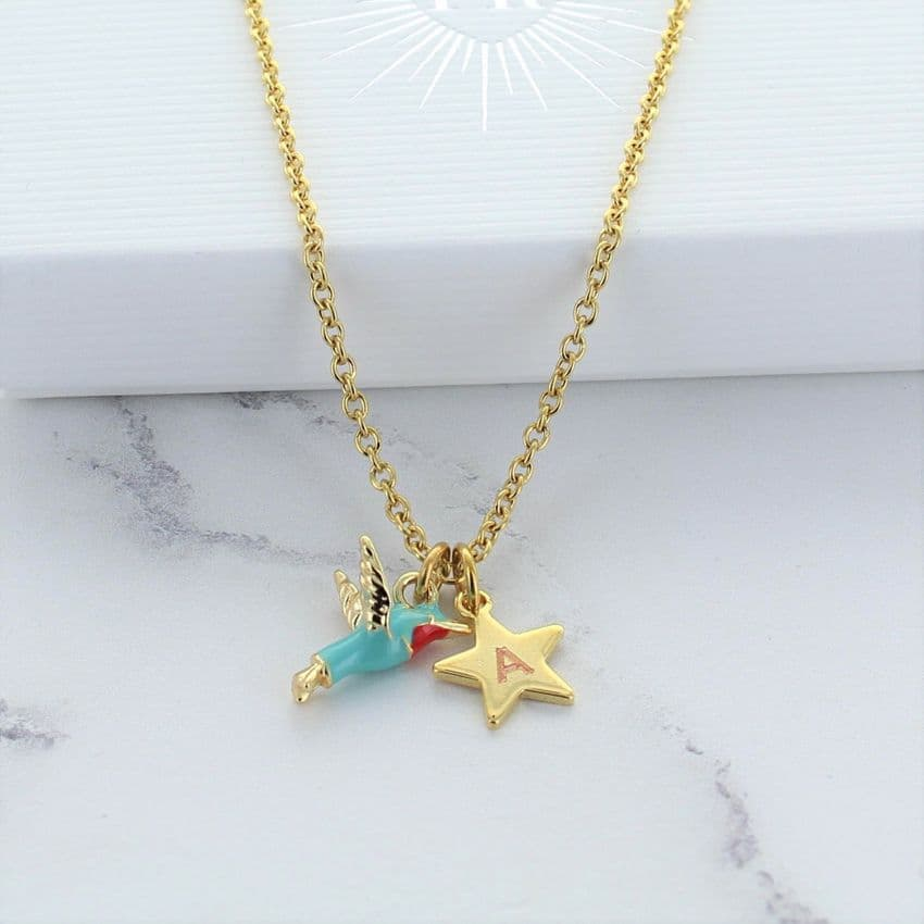 Hummingbird Personalised Charm Necklace
