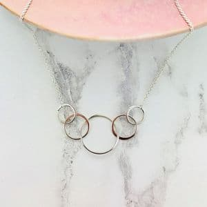 Infinity Five Link Necklace