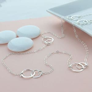 Infinity Link Layered Necklace