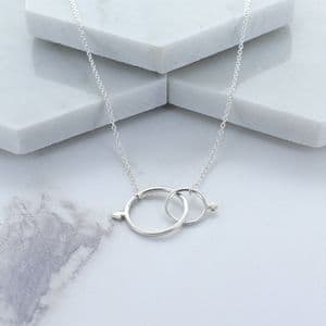 Infinity Symbol Sterling Silver Necklace