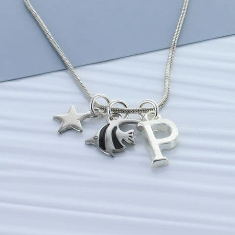 Kids Angelfish Personalised Necklace
