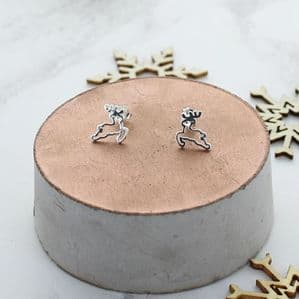 Leaping Reindeer Stud Earrings