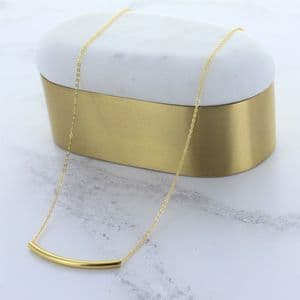 Minimal Gold Bar Necklace