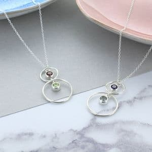 Mummy And Me Birthstone Necklace