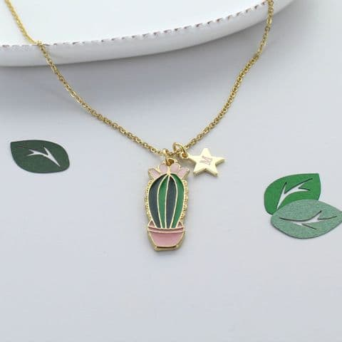 Personalised Cactus Star Necklace