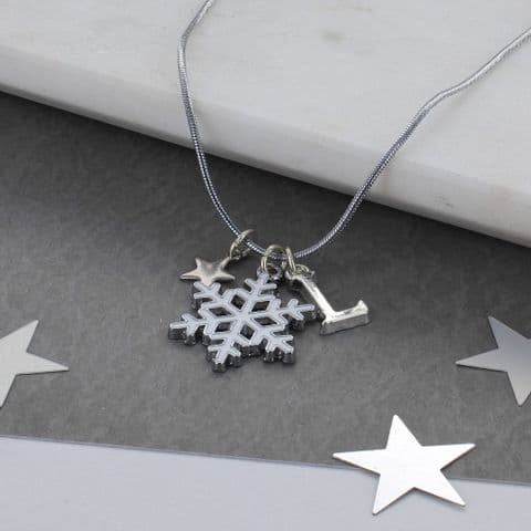 Personalised Kids Snowflake Necklace