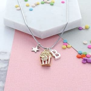Pop Corn Personalised Necklace
