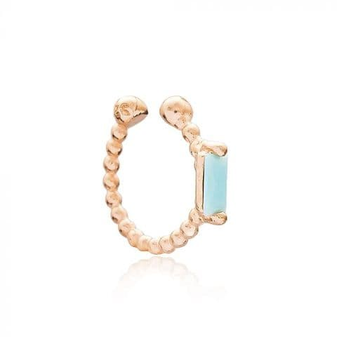 Rose gold Aquamarine ear cuff