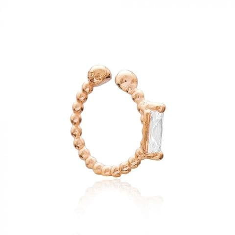 Rose Gold Cubic Zirconia ear cuff