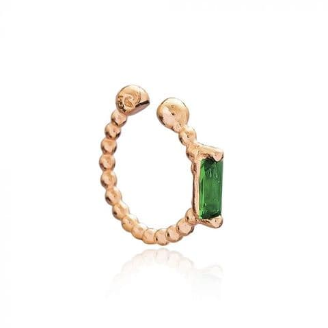 Rose gold Emerald ear cuff