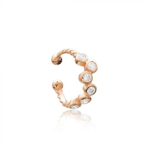 Rose gold multi Cubic zirconia cuff