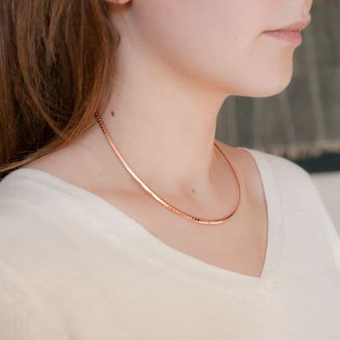 Rose Gold Torque Necklace