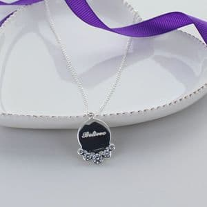 Sentiment Sterling Silver Necklace