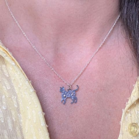 Star And Moon Cat Necklace