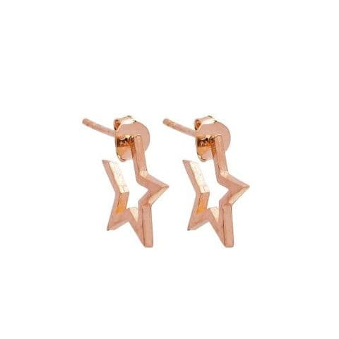 Star hoop rose gold small