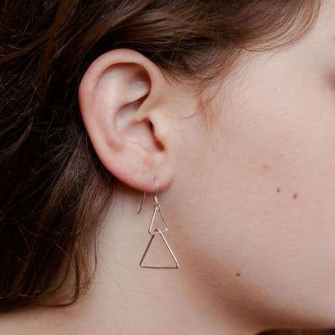 Triangle Interlocking Earrings