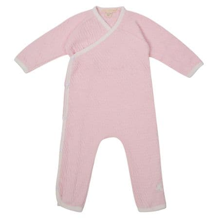 Baby Girls Quilted Jumpsuit Organic Cotton Ex USA Brand BURTS BEES BABY Pink Pack of 15 - £2.00 Each
