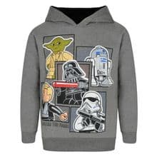 Boys STAR WARS LEGO Overhead Hooded Top Ex Store Pack of 9 - £4.00 each