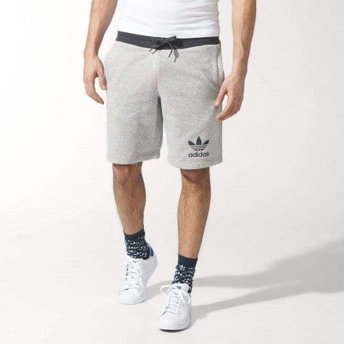 Adidas Originals Essentials Sports Casual Mens Shorts Grey Heather