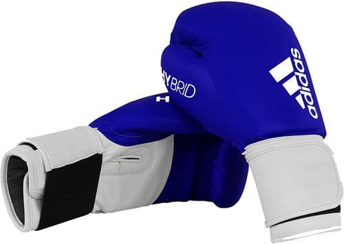 Adidas 100 Hybrid Boxing Gloves 16oz Blue