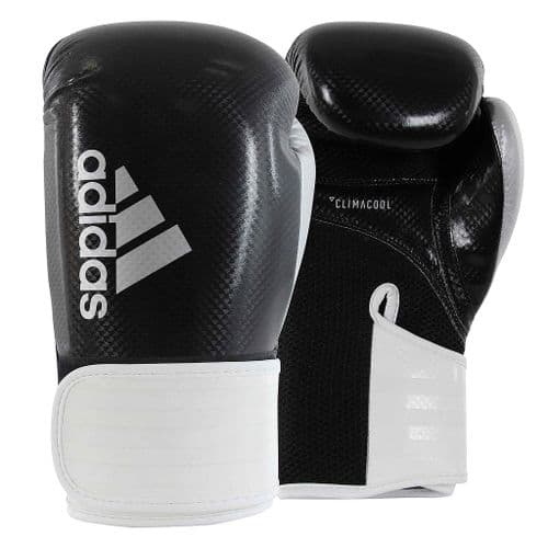 Adidas 65 Hybrid Boxing Gloves 14oz Black/White